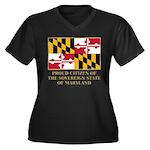 Maryland Proud Citizen Women's Plus Size V-Neck Da