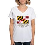 Maryland Proud Citizen Women's V-Neck T-Shirt