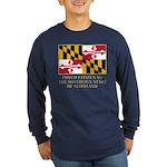 Maryland Proud Citizen Long Sleeve Dark T-Shirt