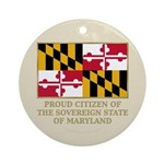 Maryland Proud Citizen Ornament (Round)