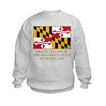 Maryland Proud Citizen Kids Sweatshirt