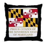 Maryland Proud Citizen Throw Pillow