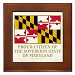 Maryland Proud Citizen Framed Tile