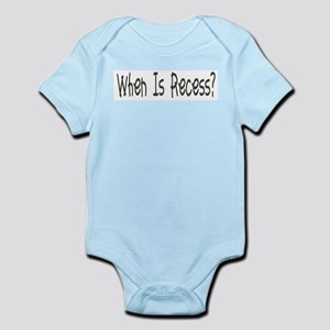 When Is Recess? Infant Creeper
