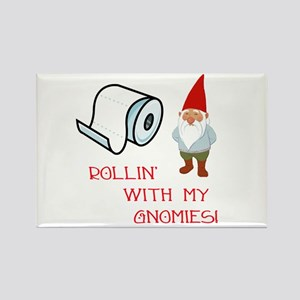 Rollin' With My Gnomies Rectangle Magnet