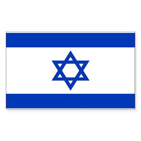 Israeli Flag Rectangle Sticker