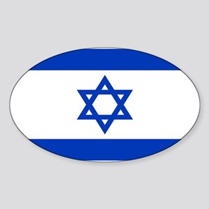 Israeli Flag Oval Sticker