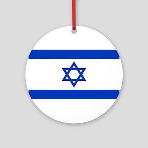 Israeli Flag Ornament (Round)