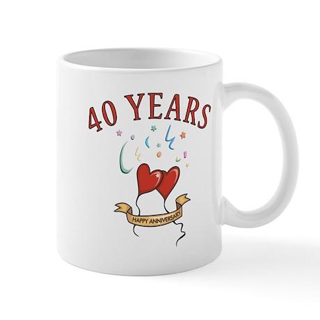 40th Festive Hearts Mug