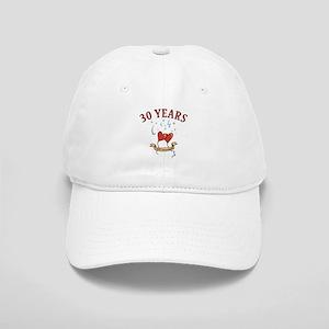 30th Festive Hearts Cap