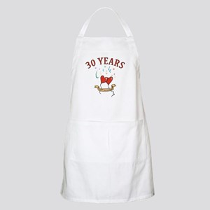 30th Festive Hearts BBQ Apron