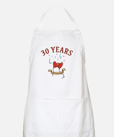 30th Festive Hearts BBQ Apron