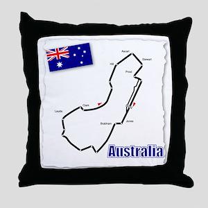 Albert Park, Australia Throw Pillow