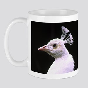 White Crown Peacock Mug