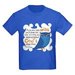 Cute Owl Kids Dark T-Shirt