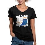 Cute Owl Women's V-Neck Dark T-Shirt