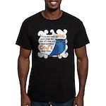 Cute Owl Men's Fitted T-Shirt (dark)