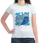 Cute Owl Jr. Ringer T-Shirt