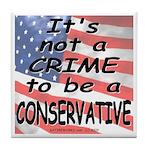 No Crime Tile Coaster
