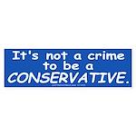 No Crime Bumper Sticker