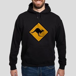 Australia Kangaroo Sign Hoodie (dark)