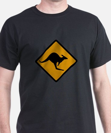 Australia Kangaroo Sign T-Shirt