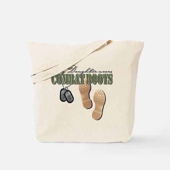 My Daughter Wears Combat Boot Tote Bag