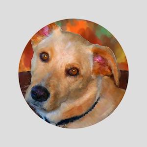 """Labrador Retriever-Yellow 3.5"""" Button"""