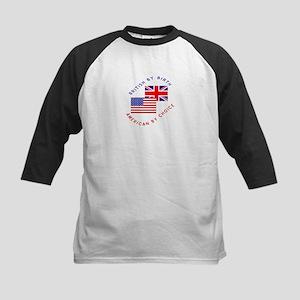 British by Birth American by Kids Baseball Jersey