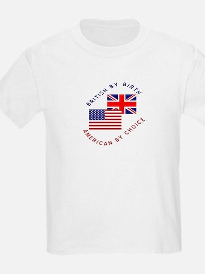 British by Birth American by Kids T-Shirt