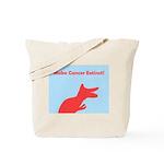 Dinosaur Make Cancer Extinct Tote Bag (pink/blue)
