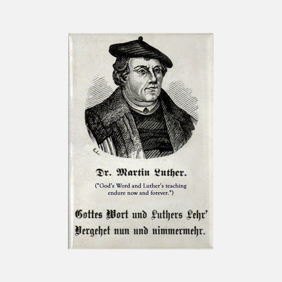 Dr. Martin Luther Rectangle Magnet (With English)