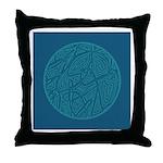 Scribble Circle Throw Pillow