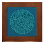 Scribble Circle Framed Tile
