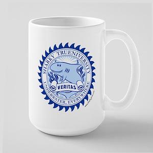2-trueniversity_w_fish_alt_blue_white_stroke Mugs