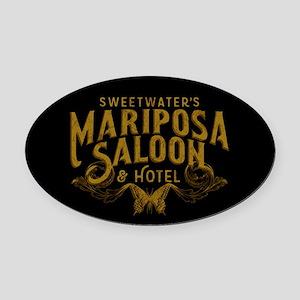 WW Mariposa Saloon Oval Car Magnet