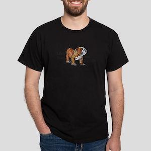 Bulldogs Life Motto Dark T-Shirt