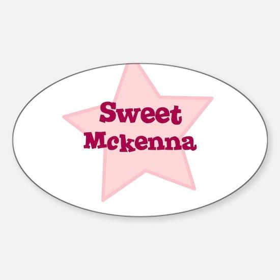 Sweet Mckenna Oval Decal