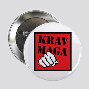 "Krav Maga with Fist 2.25"" Button"