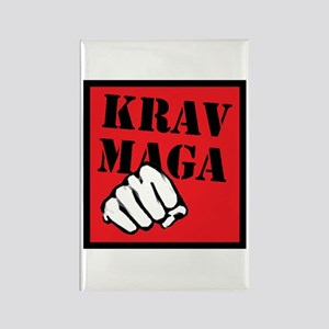 Krav Maga with Fist Rectangle Magnet