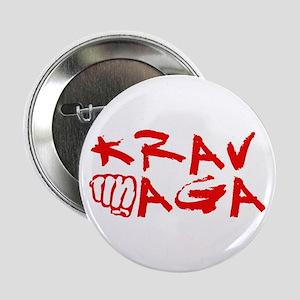"""Krav Maga Red 2.25"""" Button"""
