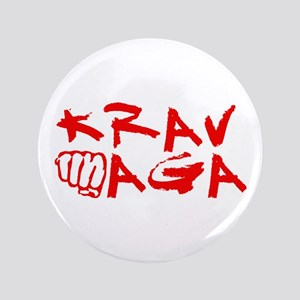 "Krav Maga Red 3.5"" Button"