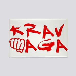 Krav Maga Red Rectangle Magnet