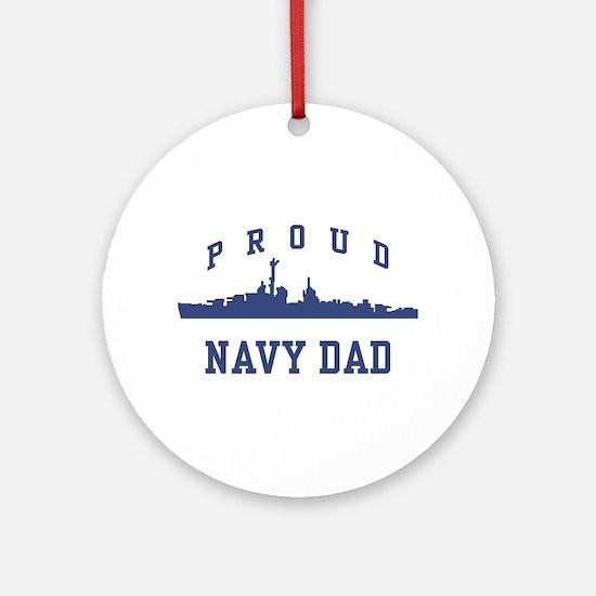 Proud Navy Dad Ornament (Round)