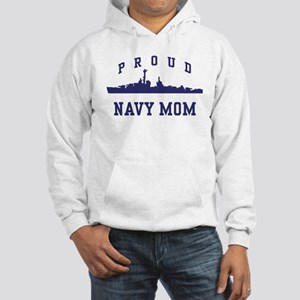 Proud Navy Mom Hooded Sweatshirt