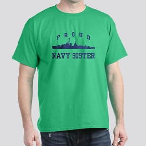 Proud Navy Sister Dark T-Shirt