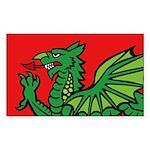 Midrealm RED Dragon Vinyl Sticker (Oval)
