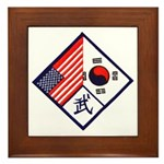 Dual Flag & Moo Framed Tile