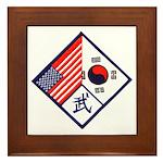 Dual Flag & Moo Framed Tile
