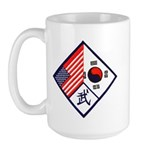 Dual Flag & Moo Large Mug